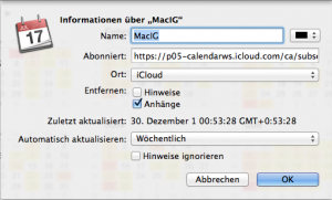 iCal-Abo-Optionen